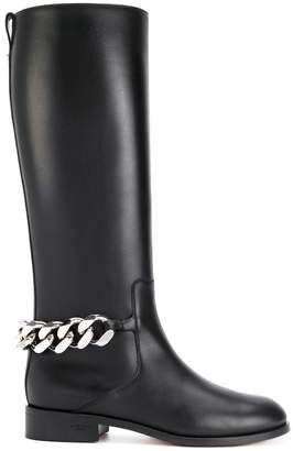 Givenchy chain and leather boots