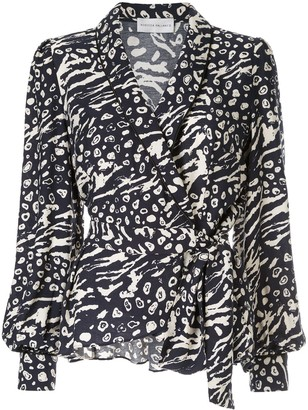 Rebecca Vallance Lola printed wrap top