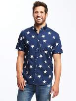 Old Navy Slim-Fit Poplin Stars-Print Shirt for Men