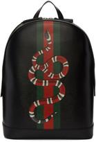 Gucci Black Web and Kingsnake Backpack