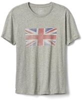 Faded union jack graphic tee