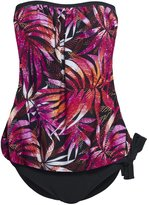 Hot From Hollywood Women's Strapless Blouson Tankini Swimsuit