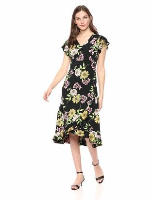Rafaella Women's Floral Print Short Sleeve Dress