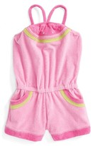 Kate Mack Girl's Watermelon French Terry Romper