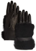 Bloomingdale's Cashmere Lined Rabbit Fur Gloves