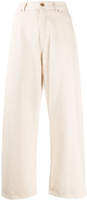 Aspesi High Rise Wide-Leg Jeans