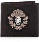 Alexander Mcqueen Crest-appliqué Bi-fold Leather Wallet