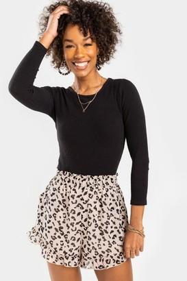 francesca's Trisha Leopard Shorts - Leopard