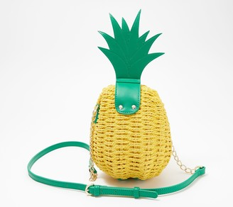 Katy Perry Paradise Pineapple Woven Convertible Crossbody