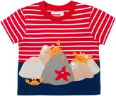 Jo-Jo JoJo Maman Bebe Rock Crabs Tee (Toddler/Kid) - Red/White Stripe-3-4