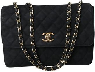 Chanel Black Suede Handbags
