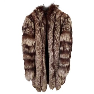 Non Signé / Unsigned Non Signe / Unsigned Silver Fox Coat for Women