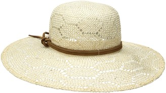 Ale By Alessandra Women's Paloma Sisal Straw Hat with Leather Trim