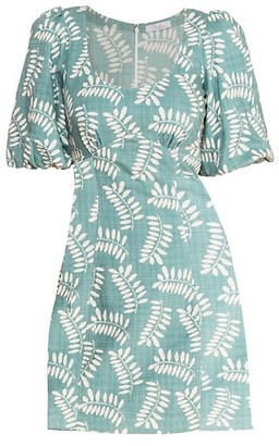 Parker Cammie Tropical Puff Sleeve Mini Dress