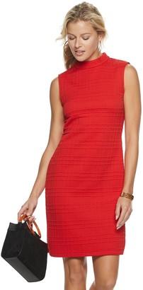 Sharagano Women's Textured Mockneck Dress
