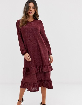 Ichi tiered midi dress