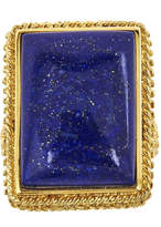 Lapis FINE JEWELRY LIMITED QUANTITIES Genuine 18K Yellow Gold Over Silver Ring