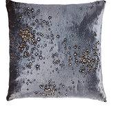 Aviva Stanoff Calcite-Print Velvet Pillow-BLUE