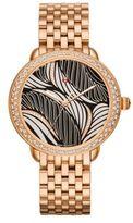 Michele Serein 16 Willow Diamond & 18K Rose Gold Bracelet Watch