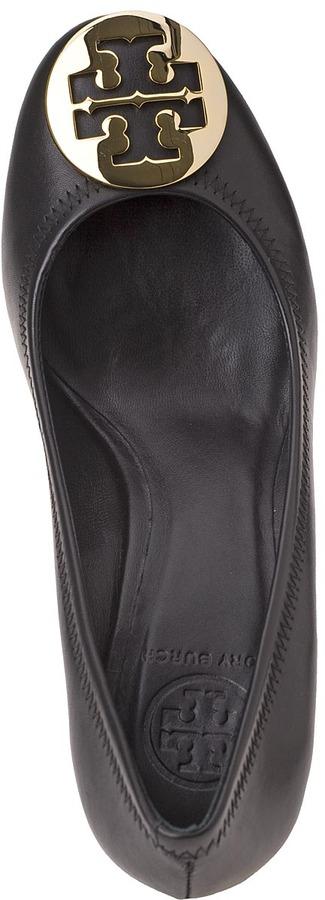 Tory Burch Sally Wedge Black Leather