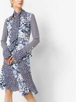 Michael Kors Floral Silk-Georgette Skirt