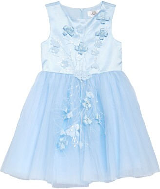 Us Angels Embroidered Applique Sleeveless Dress