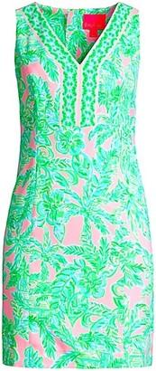 Lilly Pulitzer Vivian Tropical Floral-Print Shift Dress