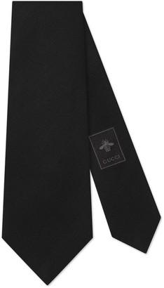 Gucci Sartorial label underknot wool silk tie