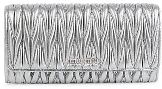 Miu Miu Pleated Leather Wallet