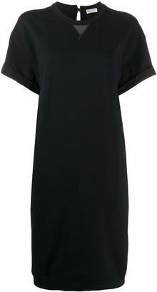 Brunello Cucinelli short-sleeved sweatshirt dress