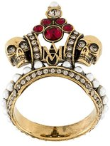 Alexander McQueen crown skull ring
