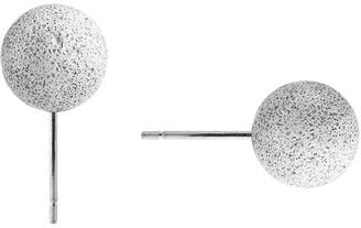Gravelli Pearls Concrete Stud Earrings Grey