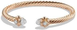 David Yurman Renaissance Bracelet With Diamonds In 18K Rose Gold, 5Mm