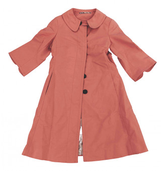 Burberry Orange Polyester Coats