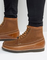 Grenson Hobson Suede Laceup Boots