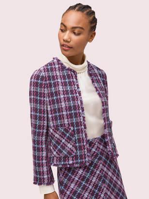 Kate Spade Plaid Tweed Jacket