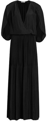 Ramy Brook Karolyn Split-Sleeve Pleated Maxi Dress