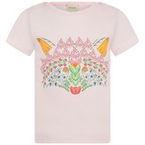 Gucci GUCCIBaby Girls Pink Floral Fox Print Top