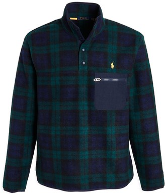 Polo Ralph Lauren Fleece Blackwatch Plaid Pullover Shirt