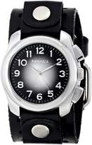 Nemesis Men's BN091K Collection Oval Gradient Leather Band Watch