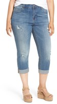 Melissa McCarthy Plus Size Women's Stretch Crop Girlfriend Jeans