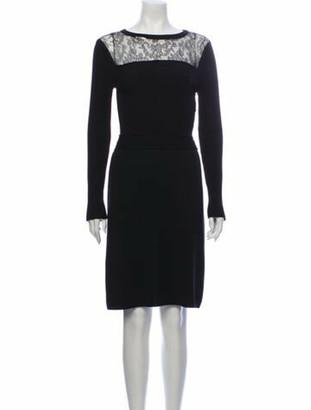Valentino Wool Midi Length Dress Wool