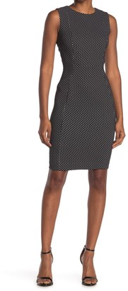 Calvin Klein Dot Sheath Dress