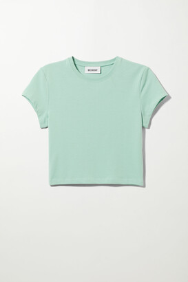 Weekday Sabra Crop T-shirt - Black