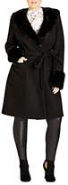 City Chic Make Me Blush Coat