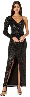 BCBGMAXAZRIA Eve Long Knit Dress (Black) Women's Dress