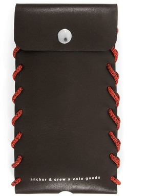 Anchor & Crew Deep Brown Standen Leather & Rope Phone Case