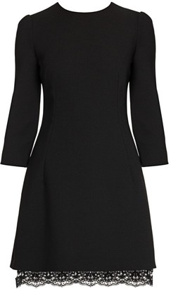 Dolce & Gabbana Three-Quarter Sleeve Double Crepe Mini Dress