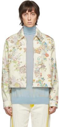 Lanvin Off-White Denim Fairy Print Jacket