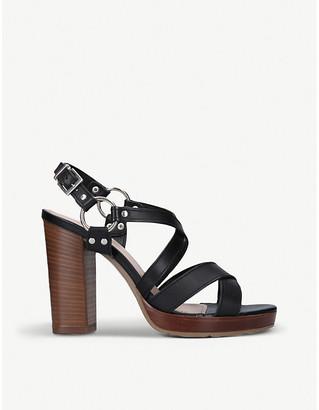 Carvela Karmen stud-embellished leather heeled sandals